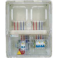 China 2 Positions Surface Mounted Electric Meter Box  With Transparent Pc Door on sale