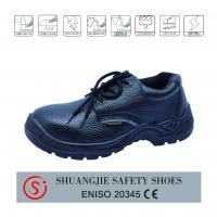 Quality steel toe cap steel plate safety shoes for work time ,leather safety boots for sale