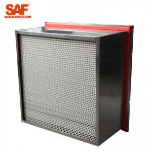 Buy cheap Aluminum Cardboard High Temperature Hepa Filters Glass Fiber Filter Material from wholesalers