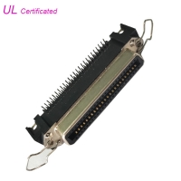 Quality 50Pin Centronic Right Angle PCB Female Printer Connector with Bail Clip for sale
