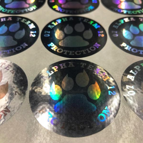 Buy Durable Laser Sticker Custom Hologram Sticker Color Laser Warning Sticker at wholesale prices