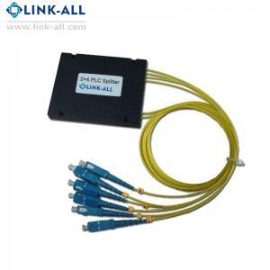 Quality Passive device fiber optic splitter 2x4 PLC Splitter ABS Box type splitter for sale