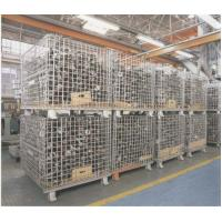 """Quality Heavy Weight Foldable Collapsible Wire Containers W47"""" X D39"""" X H35"""" In Zinc plate Finishes for sale"""