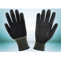 Quality Safety Working PU Coated Gloves Silk Screen Logo Printing Smooth Surface for sale