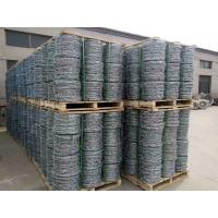 China Hot-dipped Galvanized Barbed Wire for protecting of grass boundary, railway, highway, prison, etc. on sale