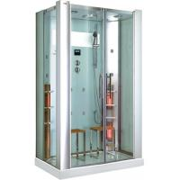Quality Rectangle Steam Shower Room With Infrared Sauna CE , 5mm Clear Glass for sale