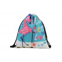 Quality Flamingo Personalized Cinch Bags , Custom Print Drawstring Bags With Logo for sale