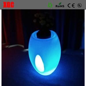 Quality 46 × 46 × 80 cm Colors Changing Waterproof PE Material LED Flower Pots,Decor Flower Pots for Christmas Decoration for sale