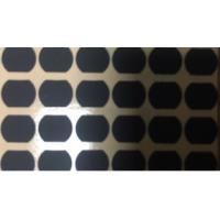 Quality Matte Balck Die Cut Irregular Shape Mylar 0.3 Mm Thickness Silicon Fabric Material for sale