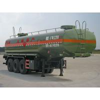 Quality Three Axles Tank Truck Trailer 35000 Liters Fuel Tank Semi Trailer For Oil Storage for sale