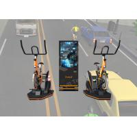 Indoor Amusement Virtual Reality Stationary Bike 9D Simulator With Reality Sport Games