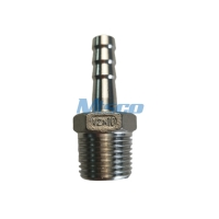Quality 2'' ASTM A351 CF8 Hose Pipe Nipple Casting Fitting NPTM Thread Connection for sale