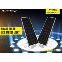 China High Brightness Park Solar Powered LED Street Lights With 5 - 6 M Pole 20 W on sale