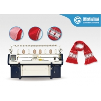 Quality Cashmere Three System 14G Scarf Knitting Machine for sale