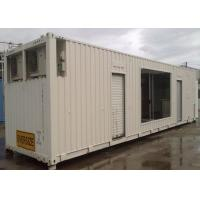 China Steel Structure Anti - Storm 40ft Shipping Container With Pull Down Doors on sale
