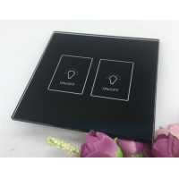 Quality Custom Intelligent Touch Tempered Glass Switch Panel Temperature Controlled for sale