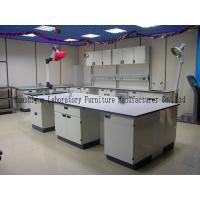 Quality Durable School Steel Lab Bench 1.0mm Steel Cabinets With PP Material Handle for sale