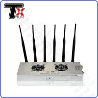 Quality 450 * 240 * 85mm Cell Phone And Wifi Jammer 6 Band For Network / Internet for sale