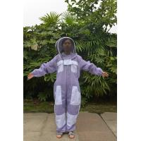 Quality Purple Color Ventilated Bee Protective Clothing Hat Taken Off Seperately for sale