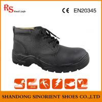 Quality Hot selling in the chile market all genuine leather steel toe safety shoes ,Mining work shoes for heavy duy for sale