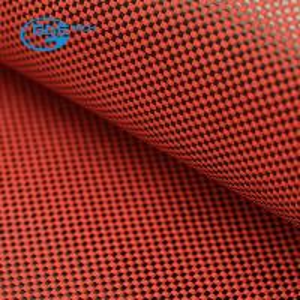 Quality 3K carbon fiber 1500D kevlar hybrid fabric, 3K 200g carbon fiber Hybrid Red kevlar fabric Cloth for sale