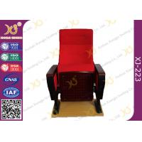 China Red Large Iron Leg Auditorium Theater Chairs For Conference Fire Retardant on sale