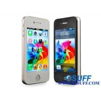 Quality HiPhone 4 H6 3.5 Inch Touch Screen Quad Band Dual SIM Cards Wifi TV Mobile Phone for sale