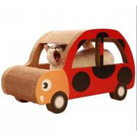 China Car Shaped Corrugated Cardboard Cat Scratcher OEM Printed Practice Sharpen Claws on sale