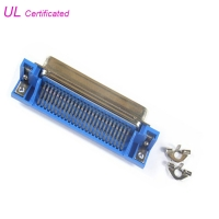 Quality 50 pin 25 Pair Centronic PCB Right Angle Champ Plug Connector male type Certified UL for sale