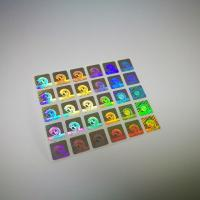 Quality Authentication Laser Sticker Transparent Hot Stamping Die Cut Shape for sale