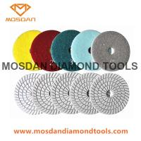 Quality 5 Step Flexible Wet Polishing Pads for Marble Terrazzo Granite Limestone for sale
