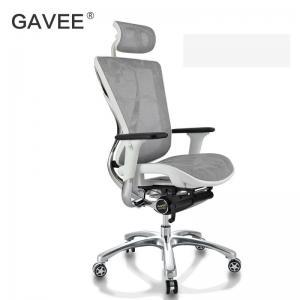 China Backrest Locking Ergonomic Conference Chair With Polished Aluminum Frame on sale