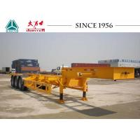 Buy Gooseneck 40 FT 3 Axle Skeletal Container Trailer For Container Terminal at wholesale prices
