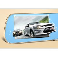 China 5  LCD Capacitive Touch Screen Rear View Mirror GPS DVR Dual Camera Recorder on sale