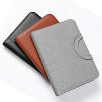 Quality hot sale business handle bag A4 leather zipper portfolio with wireless powerbank for sale