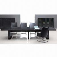 Quality Simple Series Wooden Conference Table, Made of Black Spray-painted Wood Veneer and MDF for sale