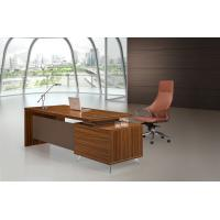Quality Brown Executive Desk 200cm With Extention Modesty And Mobile Pedestal for sale