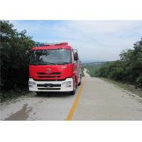 Quality Speed Ratio 1.48 Water Tanker Fire Truck Six Seats Water Shot Range ≥75m for sale