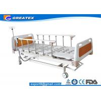 Quality GT-XBE1405 Five Function Electric Hospital Bed Folded 6 rank aluminium handrail for sale