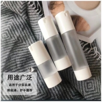 Buy cheap Eco friendly 15ml 30ml 50ml frosted white empty plastic cosmetic packaging from wholesalers