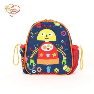 China Small Cool Robot School Kids Embroidered Backpack on sale