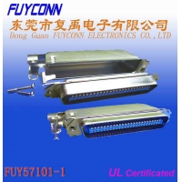 Quality DDK Solder Pin Centronic Ribbon Cable Connector With Matel Cover for sale