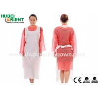 Quality Anti Oil Embossed Surface PE Single Use Apron For Food Processing for sale