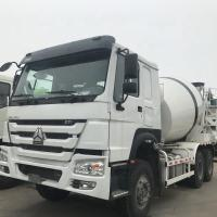 China Sinotruck Howo 12CBM Self Loading Concrete Mixer Truck 371HP Euro 2 White on sale