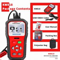 China Professional Car Battery Capacity Tester KW818 Upgrade System Buil T - In Speaker on sale
