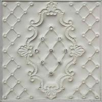 Quality 400*400 Mm 3D Leather Wall Panels Fire Resistant For Background Walls for sale