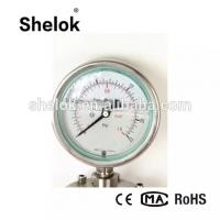 Quality CE Manufacturer Oil Filled Diaphragm Stainless Steel Manometers, Pressure Gauges for sale