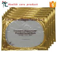 China wholesale beauty products 24k hyaluronic acid gold golden facial face mask on sale