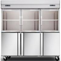Quality 1600L Glass Door Commercial Kitchen Refrigerator , Stainless Steel Kitchen Appliances for sale