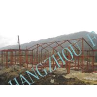 China Clear Span Prefabricated Structural Steel Buildings Galvanized Painted Column on sale